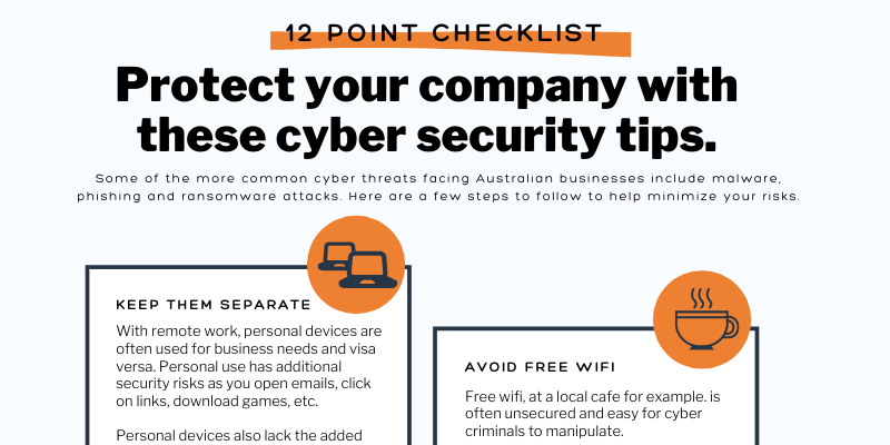 9spheres Technologies - 12 point cyber security checklist